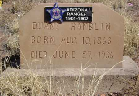 HAMBLIN, DUANE - Apache County, Arizona | DUANE HAMBLIN - Arizona Gravestone Photos