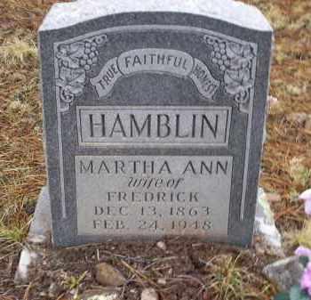 HAMBLIN, MARTHA ANN - Apache County, Arizona   MARTHA ANN HAMBLIN - Arizona Gravestone Photos