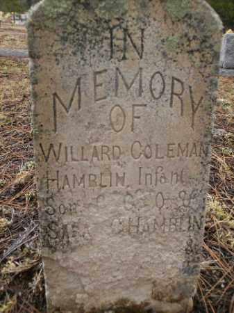 HAMBLIN, WILLARD COLEMAN - Apache County, Arizona   WILLARD COLEMAN HAMBLIN - Arizona Gravestone Photos