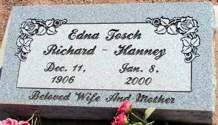 HANNEY, EDNA TOSCH RICHARD - Apache County, Arizona | EDNA TOSCH RICHARD HANNEY - Arizona Gravestone Photos