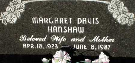 DAVIS HANSHAW, MARGARET - Apache County, Arizona | MARGARET DAVIS HANSHAW - Arizona Gravestone Photos