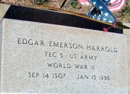 HARROLD, EDGAR EMERSON - Apache County, Arizona   EDGAR EMERSON HARROLD - Arizona Gravestone Photos