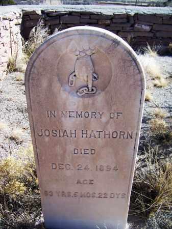 HATHORN, JOSIAH - Apache County, Arizona   JOSIAH HATHORN - Arizona Gravestone Photos