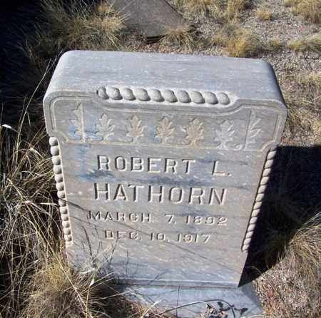 HATHORN, ROBERT L - Apache County, Arizona   ROBERT L HATHORN - Arizona Gravestone Photos