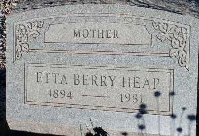 BERRY HEAP, ETTA - Apache County, Arizona | ETTA BERRY HEAP - Arizona Gravestone Photos