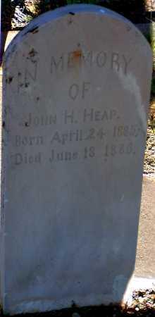 HEAP, JOHN H. - Apache County, Arizona | JOHN H. HEAP - Arizona Gravestone Photos