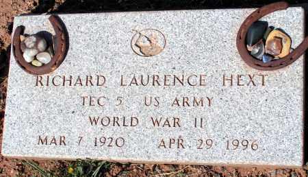 HEXT, RICHARD LAURENCE - Apache County, Arizona | RICHARD LAURENCE HEXT - Arizona Gravestone Photos