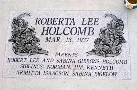 HOLCOMB, ROBERTA LEE - Apache County, Arizona | ROBERTA LEE HOLCOMB - Arizona Gravestone Photos