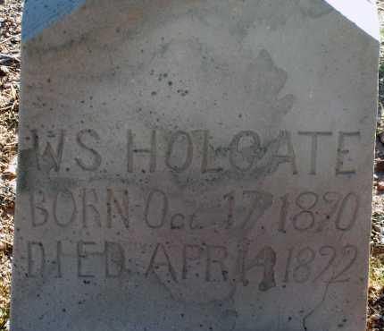 HOLGATE, W.S. - Apache County, Arizona   W.S. HOLGATE - Arizona Gravestone Photos