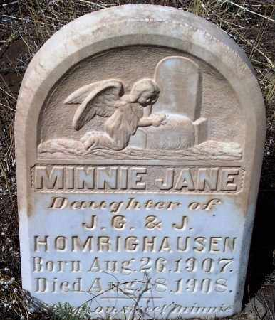 HOMRIGHAUSEN, MINNIE JANE - Apache County, Arizona | MINNIE JANE HOMRIGHAUSEN - Arizona Gravestone Photos
