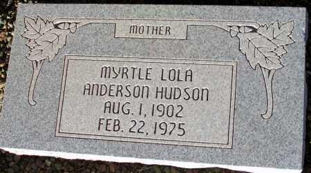 ANDERSON HUDSON, MYRTLE LOLA - Apache County, Arizona | MYRTLE LOLA ANDERSON HUDSON - Arizona Gravestone Photos