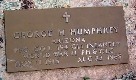 HUMPHREY, GEORGE H - Apache County, Arizona | GEORGE H HUMPHREY - Arizona Gravestone Photos