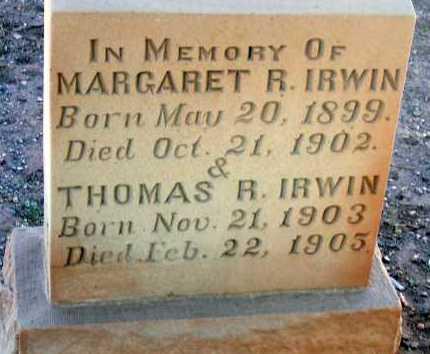 IRWIN, THOMAS R. - Apache County, Arizona | THOMAS R. IRWIN - Arizona Gravestone Photos