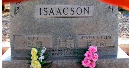 WHITING ISAACSON, MYRTLE - Apache County, Arizona | MYRTLE WHITING ISAACSON - Arizona Gravestone Photos