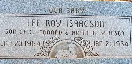 ISAACSON, LEE ROY - Apache County, Arizona | LEE ROY ISAACSON - Arizona Gravestone Photos