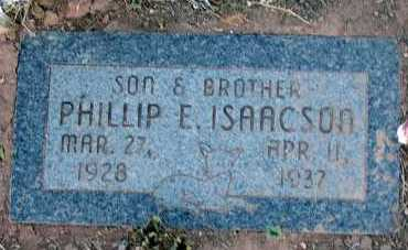 ISAACSON, PHILLIP E. - Apache County, Arizona | PHILLIP E. ISAACSON - Arizona Gravestone Photos