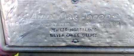 JACOBS, ANNA MAE - Apache County, Arizona   ANNA MAE JACOBS - Arizona Gravestone Photos
