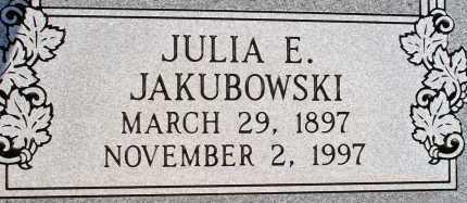 JAKUBOWSKI, JULIA E. - Apache County, Arizona | JULIA E. JAKUBOWSKI - Arizona Gravestone Photos