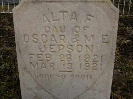 JEPSON, ALTA F. - Apache County, Arizona | ALTA F. JEPSON - Arizona Gravestone Photos