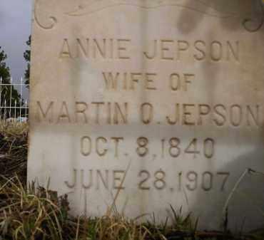 JEPSON, ANNIE - Apache County, Arizona | ANNIE JEPSON - Arizona Gravestone Photos