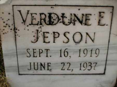 JEPSON, VERDUNE E. - Apache County, Arizona | VERDUNE E. JEPSON - Arizona Gravestone Photos