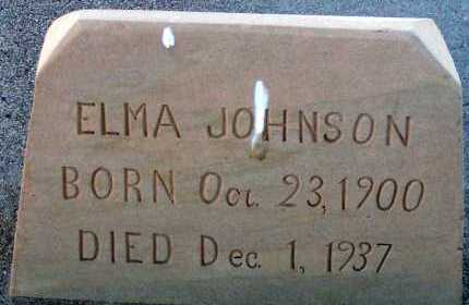 JOHNSON, ELMA - Apache County, Arizona | ELMA JOHNSON - Arizona Gravestone Photos