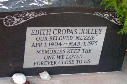 CROPAS JOLLEY, EDITH - Apache County, Arizona   EDITH CROPAS JOLLEY - Arizona Gravestone Photos
