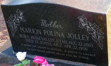 BATES JOLLEY, MARION POLINA - Apache County, Arizona | MARION POLINA BATES JOLLEY - Arizona Gravestone Photos
