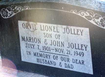 JOLLEY, ORVIL LIONEL - Apache County, Arizona | ORVIL LIONEL JOLLEY - Arizona Gravestone Photos