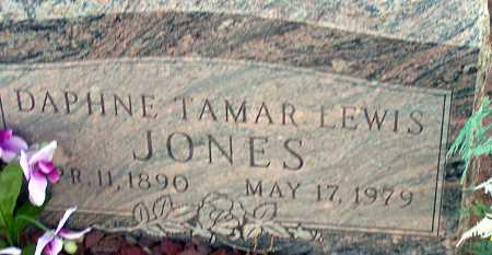 JONES, DAPHNE TAMAR LEWIS - Apache County, Arizona   DAPHNE TAMAR LEWIS JONES - Arizona Gravestone Photos