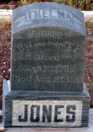 JONES, THELMA - Apache County, Arizona   THELMA JONES - Arizona Gravestone Photos