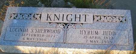 SHERWOOD KNIGHT, LUCINDA S. - Apache County, Arizona | LUCINDA S. SHERWOOD KNIGHT - Arizona Gravestone Photos