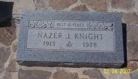 KNIGHT, NAZER J. - Apache County, Arizona | NAZER J. KNIGHT - Arizona Gravestone Photos