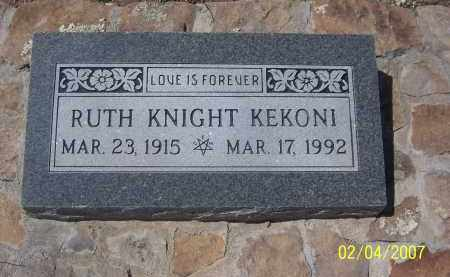 KEKONI KNIGHT, RUTH - Apache County, Arizona | RUTH KEKONI KNIGHT - Arizona Gravestone Photos