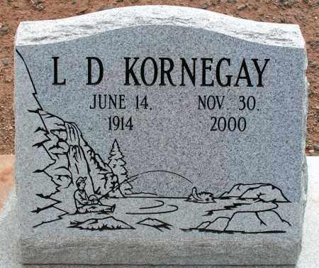KORNEGAY, L.D. - Apache County, Arizona | L.D. KORNEGAY - Arizona Gravestone Photos
