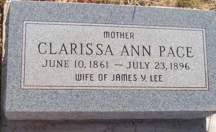 LEE, CLARISSA ANN - Apache County, Arizona | CLARISSA ANN LEE - Arizona Gravestone Photos