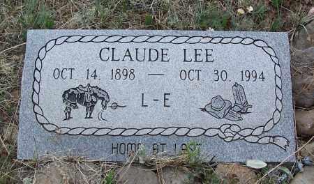 LEE, CLAUDE - Apache County, Arizona | CLAUDE LEE - Arizona Gravestone Photos