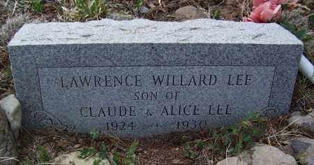LEE, LAWRENCE WILLARD - Apache County, Arizona | LAWRENCE WILLARD LEE - Arizona Gravestone Photos