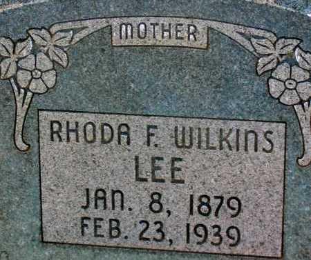 WILKINS LEE, RHODA F. - Apache County, Arizona | RHODA F. WILKINS LEE - Arizona Gravestone Photos