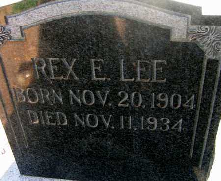 LEE, REX E. - Apache County, Arizona   REX E. LEE - Arizona Gravestone Photos