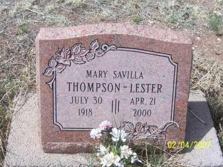 THOMPSON LESTER, MARY  SAVILLA - Apache County, Arizona | MARY  SAVILLA THOMPSON LESTER - Arizona Gravestone Photos