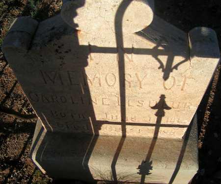LESUEUR, CAROLINE - Apache County, Arizona | CAROLINE LESUEUR - Arizona Gravestone Photos