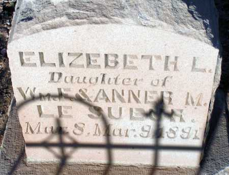 LESUEUR, ELIZEBETH L. - Apache County, Arizona | ELIZEBETH L. LESUEUR - Arizona Gravestone Photos