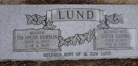 HAMBLIN LUND, IDA LOUISE - Apache County, Arizona | IDA LOUISE HAMBLIN LUND - Arizona Gravestone Photos