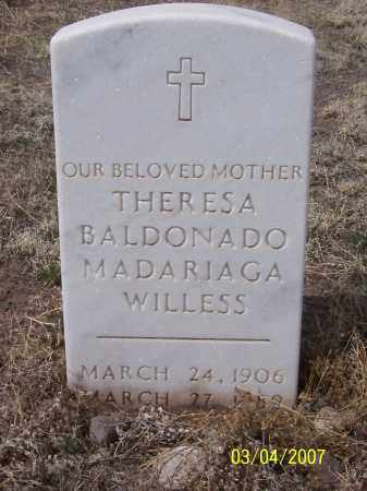 BALDONADO MADARIAGA, THERESA WILLESS - Apache County, Arizona | THERESA WILLESS BALDONADO MADARIAGA - Arizona Gravestone Photos