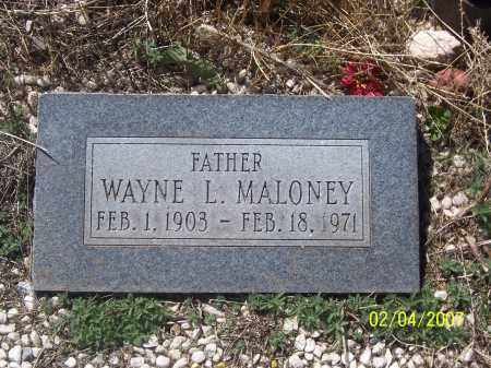 MALONEY, WAYNE L. - Apache County, Arizona   WAYNE L. MALONEY - Arizona Gravestone Photos