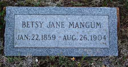 MANGUM, BETSY JANE - Apache County, Arizona | BETSY JANE MANGUM - Arizona Gravestone Photos