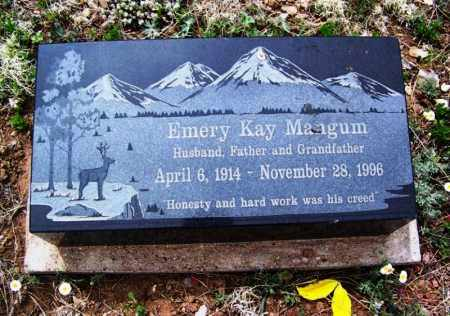 MANGUM, EMERY KAY - Apache County, Arizona | EMERY KAY MANGUM - Arizona Gravestone Photos