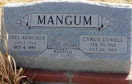 RENCHER MANGUM, THEL - Apache County, Arizona | THEL RENCHER MANGUM - Arizona Gravestone Photos