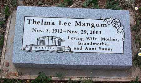 MANGUM, THELMA LEE - Apache County, Arizona | THELMA LEE MANGUM - Arizona Gravestone Photos